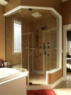 Great Lakes Glass specializes in Glass Shower Enclosures
